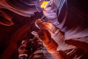 antilop canyon landskap i sidan arizona foto