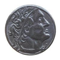 gamla grekiska mynt foto