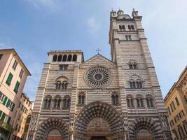 St Lawrence -katedralen i Genua foto