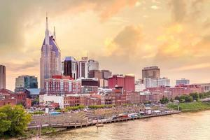 Nashville, Tennessee centrum horisont foto
