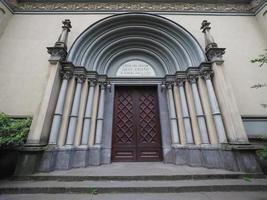 tempio valdese waldensian tempelkyrka i Turin foto
