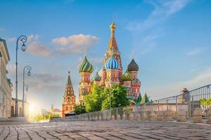 Saint Basil's Cathedral på röda torget i Moskva, Ryssland foto
