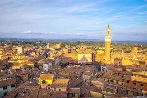 centrum Siena skyline i Italien foto