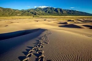 stora sanddyner nationalpark i Colorado foto