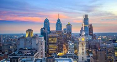 stadsbilden av centrum skyline philadelphia i pennsylvania foto