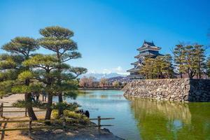 matsumoto slott i japan foto