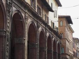 utsikt över den gamla stadskärnan i Bologna foto