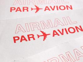 luftpost brev kuvert foto