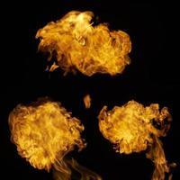 olika eldslågor foto