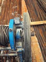industriellt metalljärnkonstruktionskoncept foto