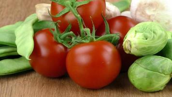 blandning av hälsosam ekologisk grönsak foto