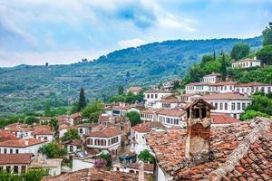 en vacker antik turist centrum stad sirince foto