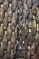 abstrakt vintage antik afrikansk mask foto