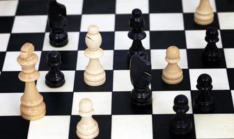 strategi att spela schack foto