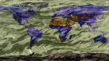 världskarta gjord av hård granitsten texturyta foto