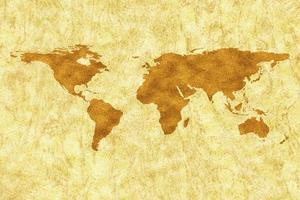 geografi jordkarta i guldstruktur foto