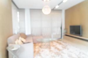 abstrakt suddighet och defokuserat vardagsrum för bakgrund foto