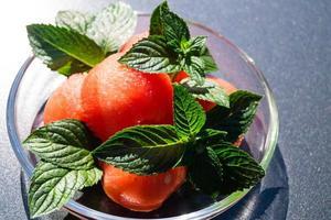 vattenmelon och mynta foto
