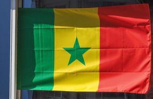 senegalesisk flagga av senegal foto