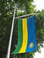 rwandas flagga i rwanda foto