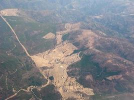 flygfoto över sardinien foto