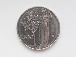 italiensk liramynt foto