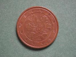 euro eur mynt, valuta för Europeiska unionen eu foto