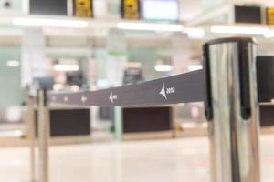 terminal t1 inga turister in under covid 19 -tiden i Barcelona foto