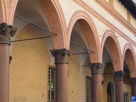 utsikt över gamla stadskärnan i bologna foto