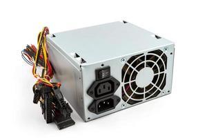 dator strömförsörjningsenhet på vit bakgrund foto