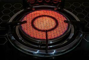 infraröd strålningsteknik på keramiskt mönster av gasspis foto