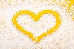 gul kärlekssymbol hjärta, alla hjärtans dag 14 februari foto