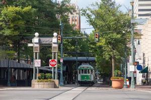 vintagevagn i centrala Memphis, Tennessee foto