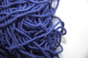 blå tråd närbild foto