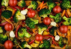 ugnsrostade grönsaker foto
