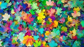 färgade blad av hösthöstbakgrund, höstens färger foto