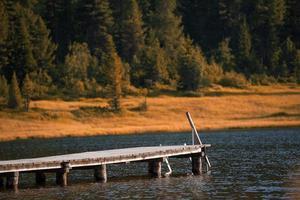 pir på alpinsjön foto