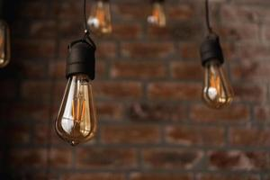 dekorativa antika edison stil ljus volfram glödlampor foto