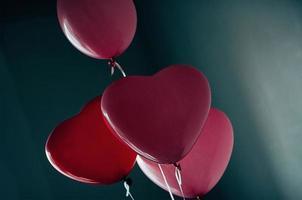 älskar hjärta ballong vintage mörk bakgrund foto