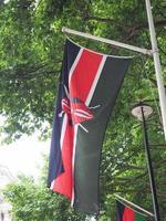kenyas flagga i kenya foto