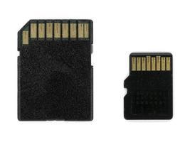 sd och micro sd minneskort jämförelse foto