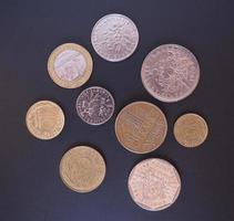 mynt fransk franc foto