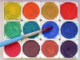 färger och penslar foto