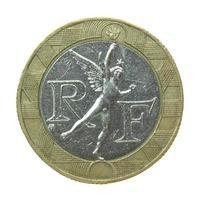 1 franc mynt, frankrike foto
