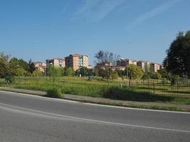 utsikt över staden settimo torinese foto