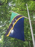 tanzianska flagga i tanzania foto