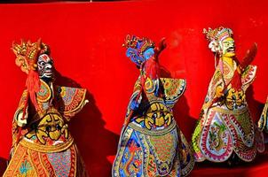 kinesisk marionett traditionell dramashow foto