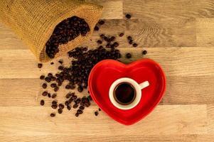 kaffekomposition ovanifrån foto