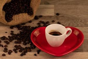 kaffekomposition med bönor foto