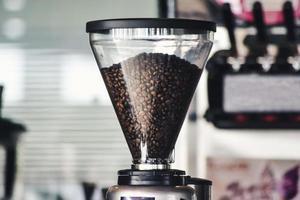 närbild av en kaffebryggare foto